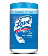 Lysol Disinfectant Surface Wipes With Tough Cleaning Power Spring Waterfall
