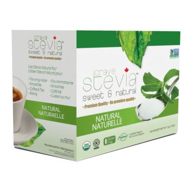 Crave Stevia Sweet and Natural Stevia Naturals Packets