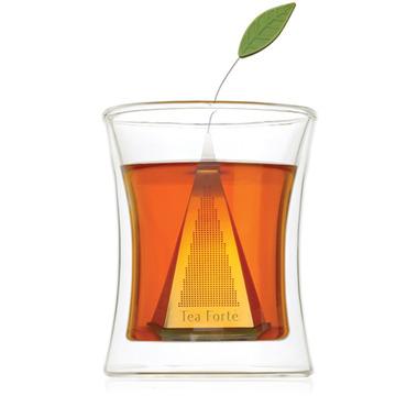 Tea Forte Icon Loose Tea Infuser Silver