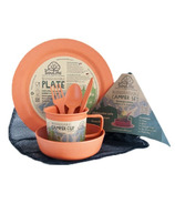 EcoSouLife Biodegradable Bamboo Camper Set in Orange