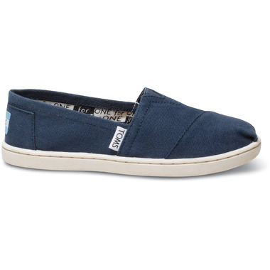 TOMS Youth Classic Alpargatas Navy Canvas