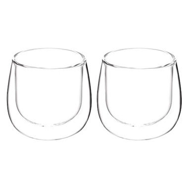 GROSCHE Fresno Double Wall Glass Mugs without Handle