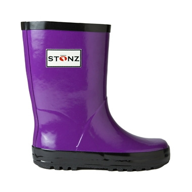 Stonz Rain Bootz Purple/Black