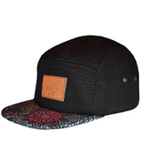 L&P Apparel Cambridge 2.0 5 Panel Hat Plum Flower