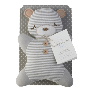 Living Textiles 2D Plush Bear Toy With Rattle