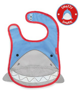Skip Hop Zoo Bibs Tuck-Away Bib Shark