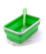 Eco Vessel Collapsible Silicone Single Compartment Container Green