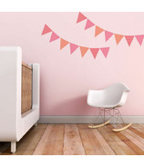Trendy Peas Wall Decals Pennants Pink & Strawberry