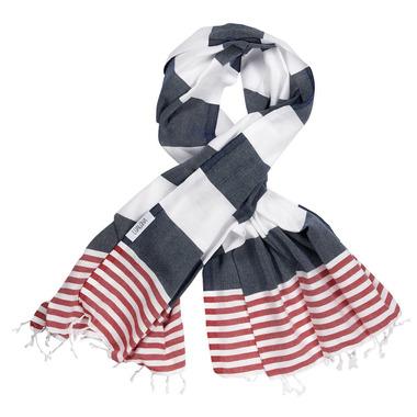Lualoha Turkish Towel Striped Goodness Navy & Red