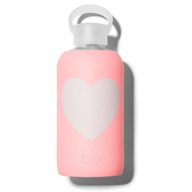 buy bkr elle heart glass water bottle opaque pastel fluorescent coral from canada at. Black Bedroom Furniture Sets. Home Design Ideas