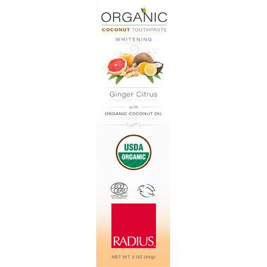 Radius Organic Coconut Whitening Toothpaste