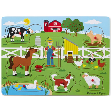Melissa & Doug Old MacDonald\'s Farm Sound Puzzle