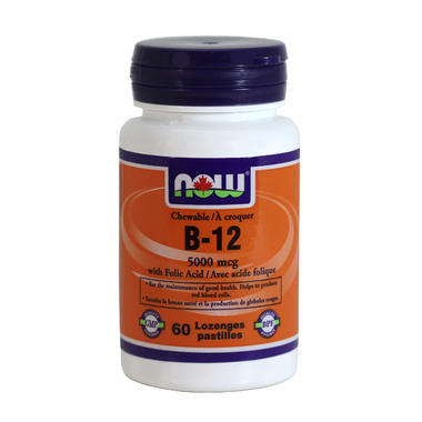 NOW Foods Chewable Vitamin B12 with Folic Acid