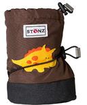 Stonz Brown Dinosaur Booties