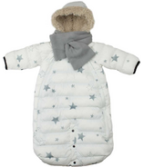 7 A.M. Enfant Doudoune White with Stars
