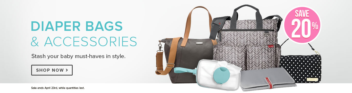 Save 20% on Diaper Bags