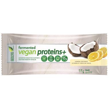 Genuine Health Fermented Vegan Proteins+ Lemon Coconut Bars