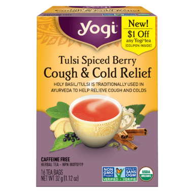 Yogi Tea Organic Tulsi Spiced Berry Cough and Cold Relief