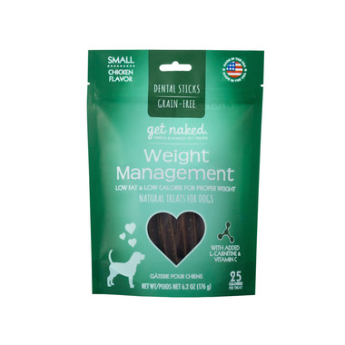 Natural Polymer Int. Get Naked Weight Management Small Chew Sticks for Dogs