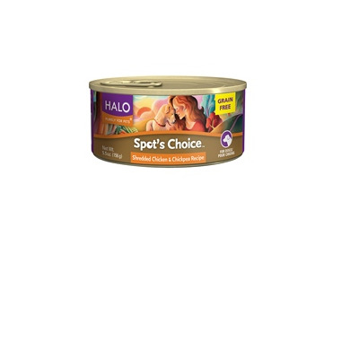 Halo Spot\'s Choice For Dogs Shredded Chicken & Chickpea Recipe