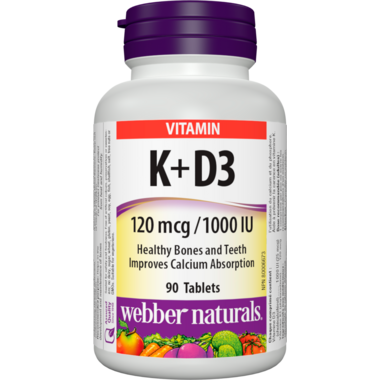 Webber Naturals Vitamin K + D