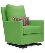 Monte Design Como Glider Natural Cotton Linen Blend & Espresso Base