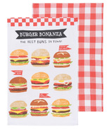 Now Designs Burger Bonanza Tea Towels