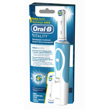 Find out how you can make the switch to an Oral-B electric toothbrush for a faster, more thorough clean. Page Header Page Oral-B Pro ORAL-B VITALITY SUPERIOR PLAQUE REMOVAL* • 1 Cleaning Mode • 2-Minute Built-in Timer.