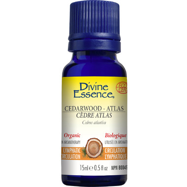 Divine Essence Atlas Cedarwood Organic Essential Oil