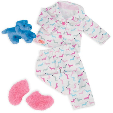 Our Generation Counting Puppies Dog Print PJ\'s Outfit