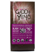 Giddy Yoyo Organic Raw Maca 76% Dark Chocolate Bar