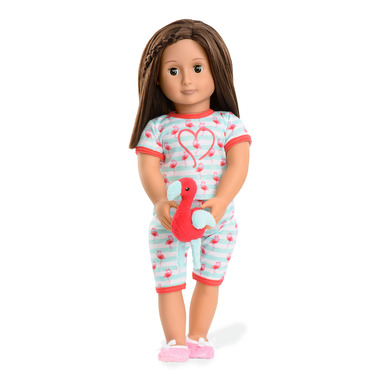 Our Generation Early Bird Flamingo Pajamas Outfit