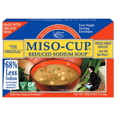 Sodium in miso soup