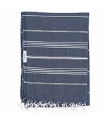 Lualoha Turkish Towel Classic Blanket Collection Navy