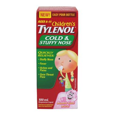 Children\'s Tylenol Cold & Stuffy Nose Suspension Liquid