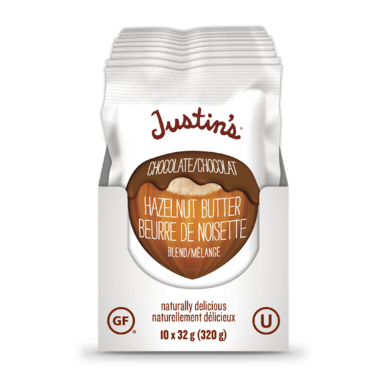 Justin\'s Chocolate Hazelnut Butter Squeeze Packs