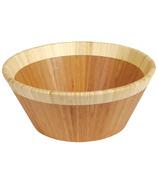 Island Bamboo Large Salad Bowl With White Rim