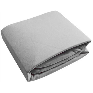 Kushies Flannel Fitted Crib Sheet Grey