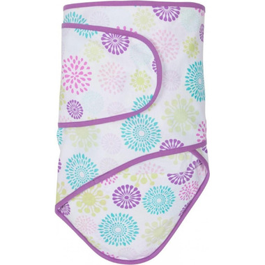 Miracle Blanket Colourful Bursts with Purple Trim
