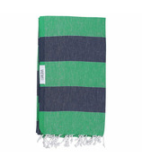 Lualoha Turkish Towel Buddhaful Apple Green & Navy