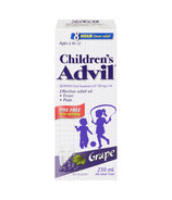 Advil Children's Suspension Dye Free Grape