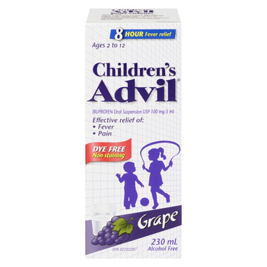 Advil Children\'s Suspension Dye Free Grape