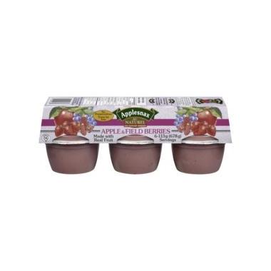Applesnax Apple-Field Berries Applesauce Cups