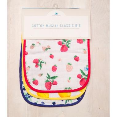 Little Unicorn Cotton Classic Bibs Berry Lemonade