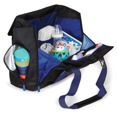 Skip Hop Fit All Access Diaper Tote Black & Cobalt