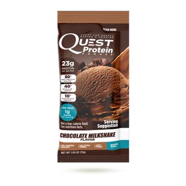 Quest Nutrition Chocolate Milkshake Protein Powder Packets