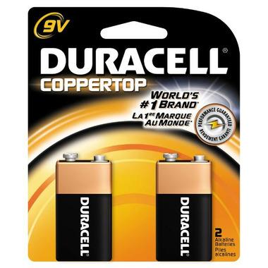 Duracell Coppertop 9 Volt Battery