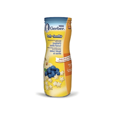 Gerber Graduates Toddler Snack Puffs Blueberry Vanilla