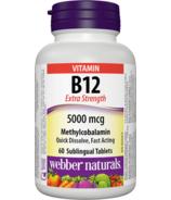 Webber Naturals Vitamin B12 Methylcobalamin 5000 mcg