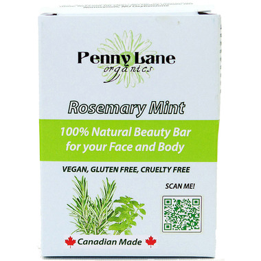 Penny Lane Organics 100% Natural Beauty Bar Rosemary Mint